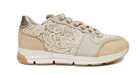 beige borduur runner