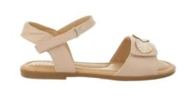 Zachtroze blaadjes sandaal