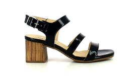 Blauw lak sandalet