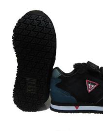 zwart klitband sneaker
