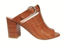 Cognac coco slipper
