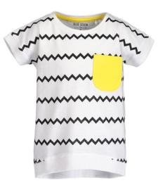 Wit t-shirt zwart zigzag