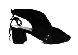 Zwart suede sandalet