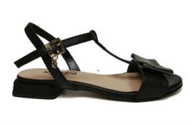 Zwart leer sandaal