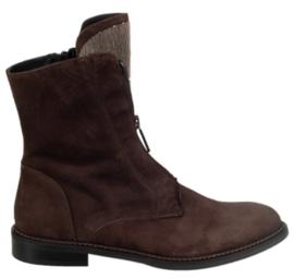 Bruin suède rits boot