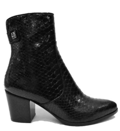 Zwart tejus cowboy boot