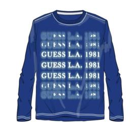 Kobalt shirt lange mouw GUESS