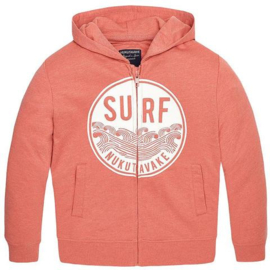 hoodie vest koraal