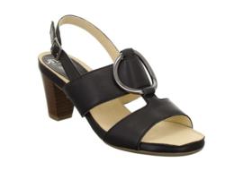 Zwart soft sandaal
