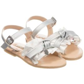 Wit zilver sandaal