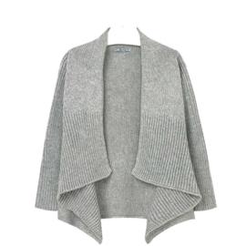 Grijs 'poncho' vest