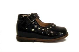 zwart lak band schoen