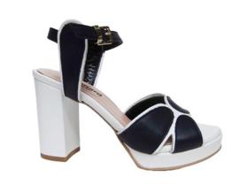 Blauw wit sandaal