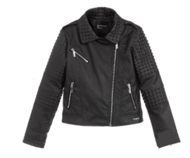 Zwart leather look jack