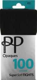 Supersoft opaque panty zwart