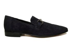 Blauw suede loafer