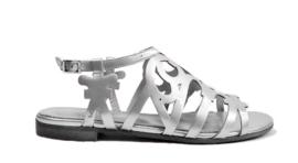 zilveren sandaal