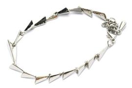 Zilver triangle armband
