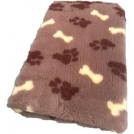 Vet bed - Taupe + Bruine pootjes Beige botjes anti-slip
