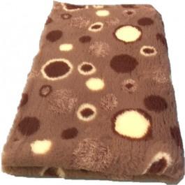 Vet Bed Circles Bruin Creme - latex anti-slip