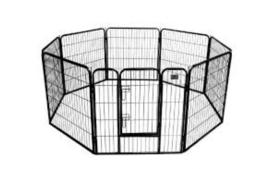 Puppyren Topmast Premium Medium Zwart Gecoat | 640 cm Omtrek | 80 cm Hoog