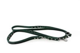 Das Lederband Weinheim -  verst. looplijn 300 cm -  Hunting green
