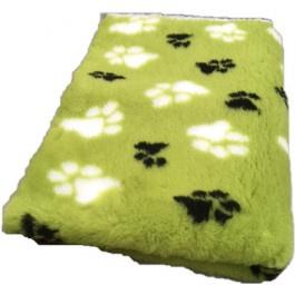 Vet Bed Olijfgroen Zwart Wit voetprint- latex anti-slip