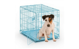 Hondenbench Blauw gecoat