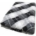 Vet Bed Diamond Ruit- Zwart Grijs Wit - latex anti-slip.
