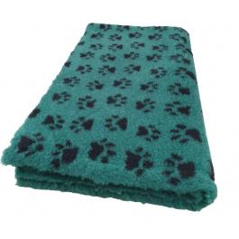 Vet Bed Groen met Zwarte Voetprint Latex Anti Slip