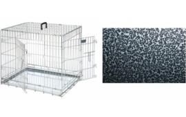 Hondenbench Topmast Premium Black Silver Coating