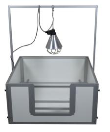 Beugel voor warmtelamp passend bij werpkist 100x100x50 cm.