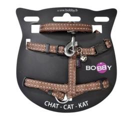 Kattenharnas met riem Safe Maroon