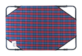 hondenbed Dream 76 x 50 cm polyester/staal rood/blauw