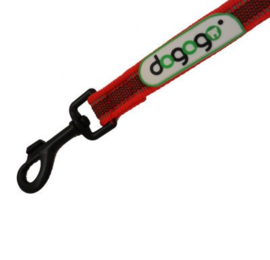 Dogogo antislip riem met handvat 20mm breedte,  rood
