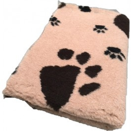 Vet Bed Beige met Bruine en Zwarte Pootjes Latex Anti Slip