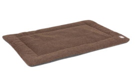 Xtreme hondenmat Wool 58 x 45 cm lamswol/polyester bruin
