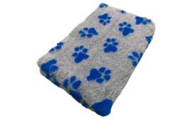 Vet Bed Xtra Soft - 2 kleur Big Paw- Grijs Blauw latex anti-slip