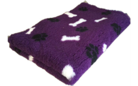 Vet bed - Paars zwarte pootjes witte botjes - latex anti-slip