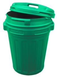 Voerton met draaisluiting 70 liter Green