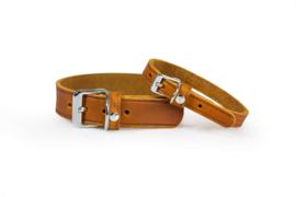Das Lederband Halsband Weinheim, Maroon