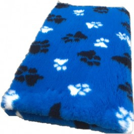 Vet Bed Kobaltblauw Zwart Wit voetprint- latex anti-slip