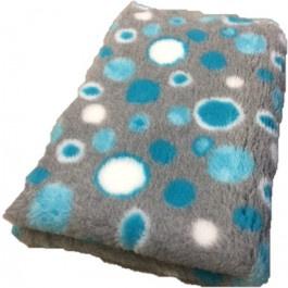 Vet Bed Circles Turquoise Grijs Wit - latex anti-slip