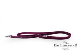 Das Lederband Weinheim - traploos verst. looplijn  - 210 cm - paars