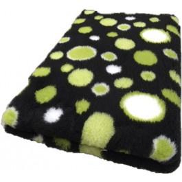 Vet Bed Circles Groen Zwart Wit - latex anti-slip.