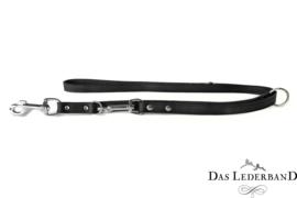 Das Lederband  Weinheim  -  Verst. Looplijn - 200 cm -Zwart