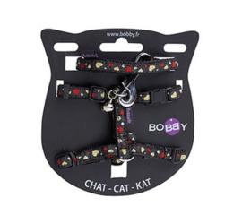 Kattenharnas met riem Lovely Zwart