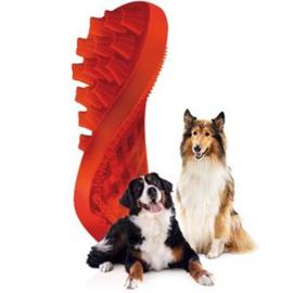 Home Pet+Me Hond Lange haren Borstel Rood  Pet+Me Hond Lange haren Borstel Rood