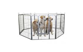 Puppyren Topmast 8 delig Grijs Medium - 640 cm omtrek 60 cm hoog
