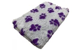 Vet Bed Xtra Soft - 2 kleur Big Paw- Grijs Paars latex anti-slip